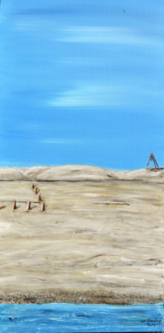 Beach 70 x 35 cm