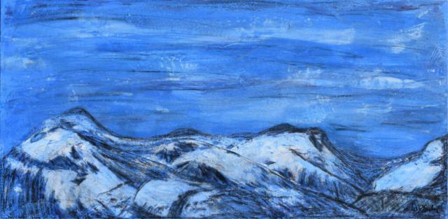 Blue Mountins 70 X 35 cm