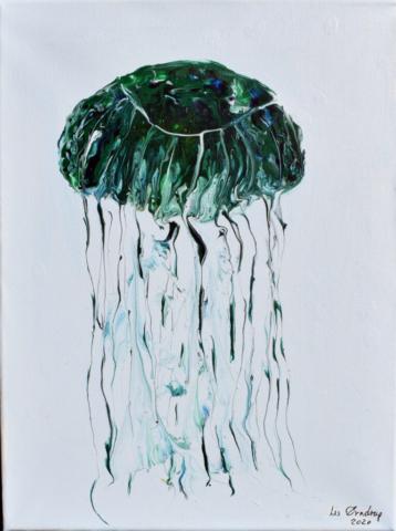 Jellyfish 30 x 40 cm