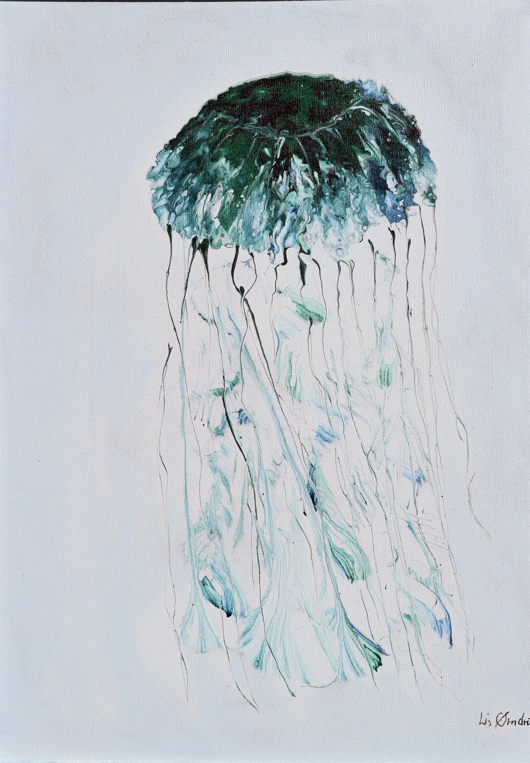 Jellyfish  50 X 70 cm