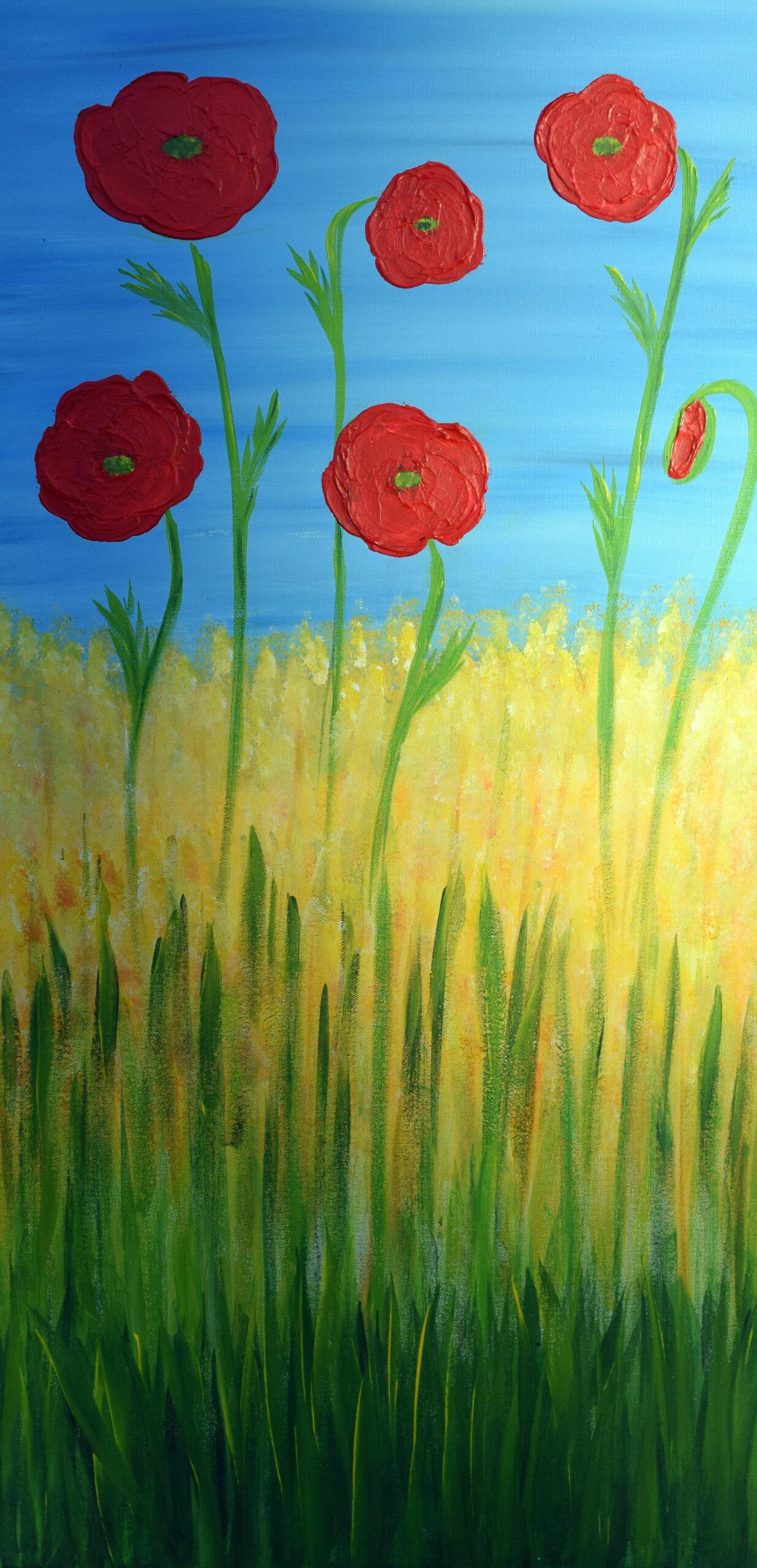 Poppies 30 x 70 cm