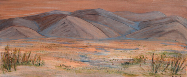 Red Mountains 70 X 30 cm