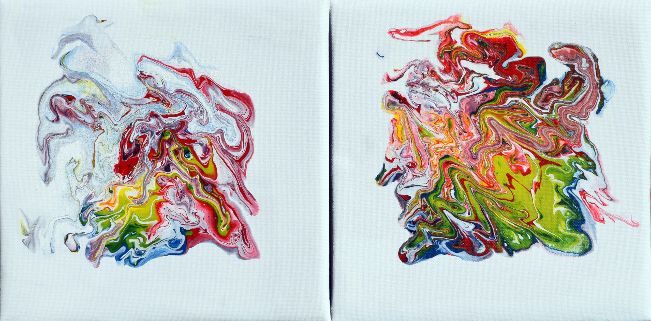 Two Small Abstract a' 25 X 25 cm